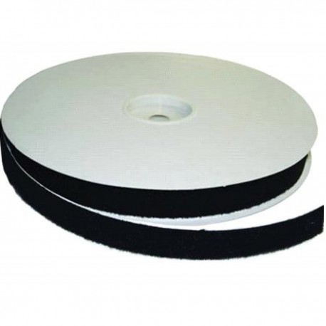 Adhesive backed loop Black 25mm x 25m