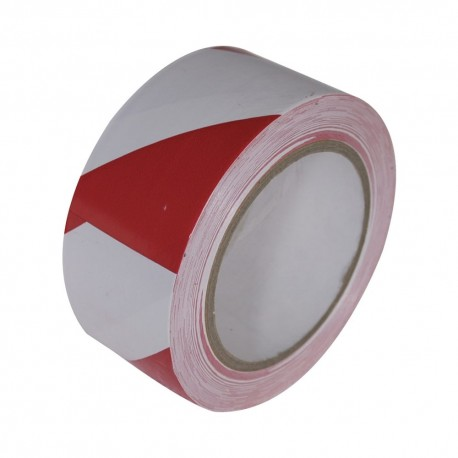 Hazard Warning Tape RED/WHITE 48mm X 66m